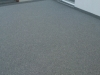 Dunkle Steinteppich Terrasse
