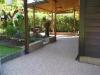 Steinteppich Terrasse mit Garten