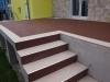 Steinteppich Terrasse mit Treppe