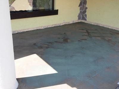 Bodenbelag vor der Stein Teppich Verlegung