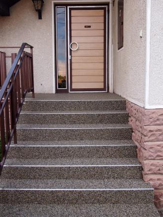 Steinteppich Treppe für den Outdoor Bereich